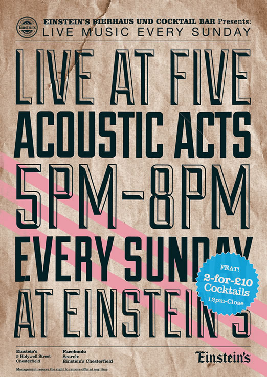 live at five acoustic acts every sunday