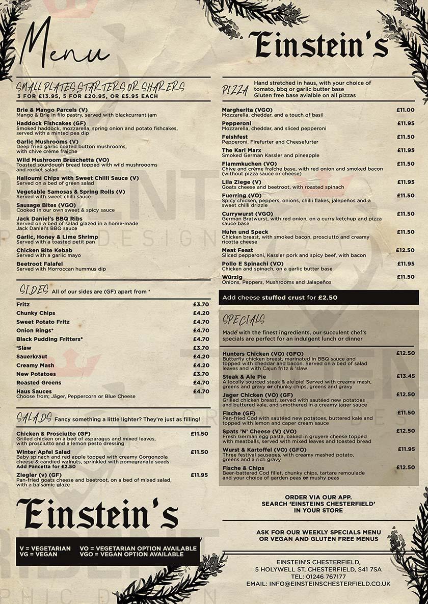 einstein's chesterfield genius food
