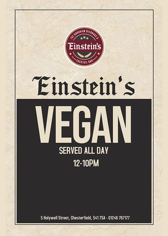 einstein's chesterfield vegan food